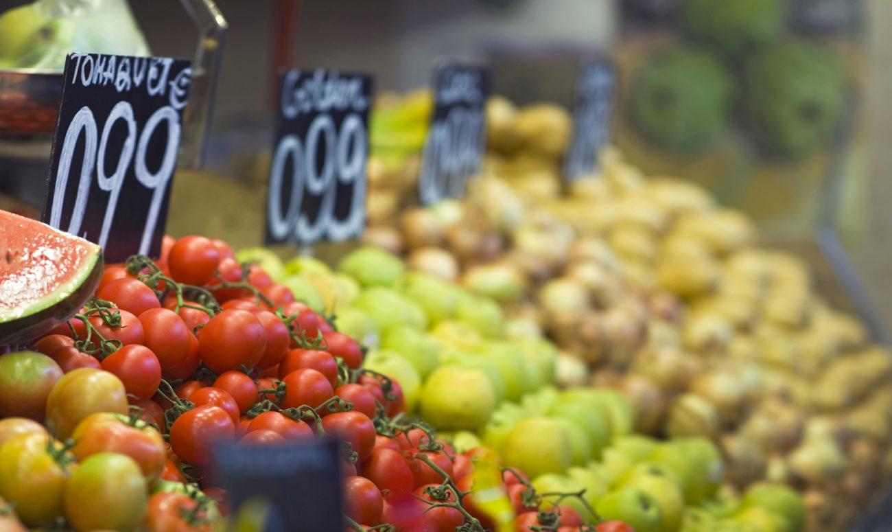 verdura al mercat